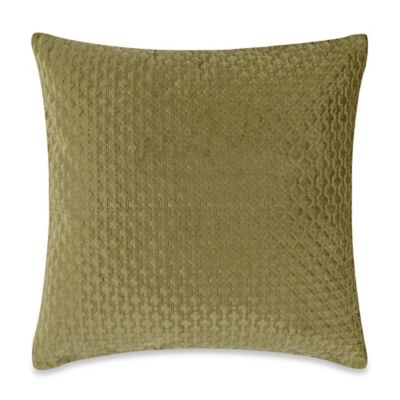 Nika 20-Inch Square Throw Pillow in Green
