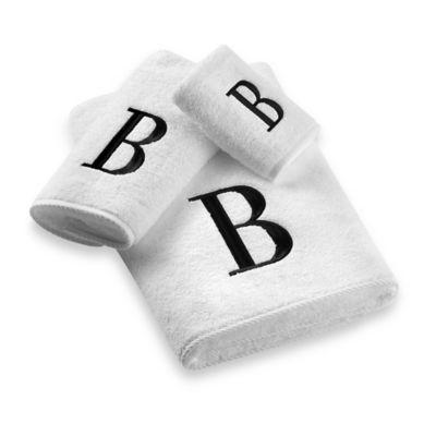 "Avanti Monogram Letter ""A"" Bath Towel"
