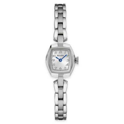 Bulova Classic Ladies' 21mm Tonneau Watch in Stainless Steel