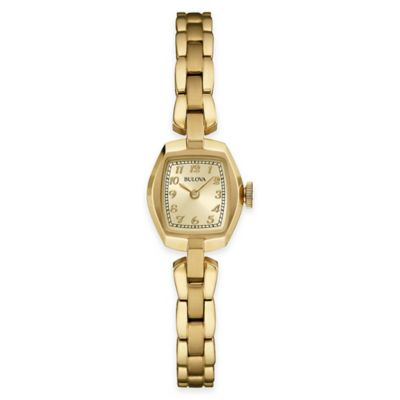 Bulova Classic Ladies' 21mm Tonneau Watch in Goldtone Stainless Steel