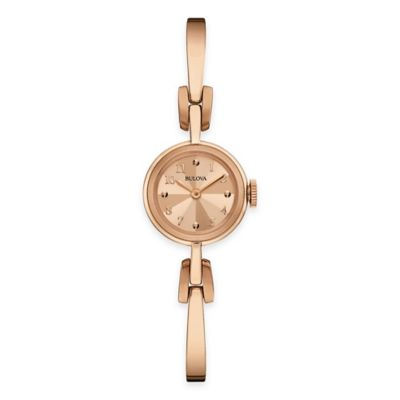 Bulova Classic Ladies' 20mm Bangle Bracelet Watch in Rose Goldtone Stainless Steel