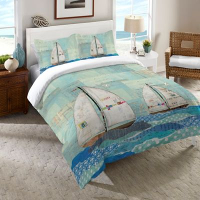 Laural Home® At the Regatta Queen Comforter in Blue