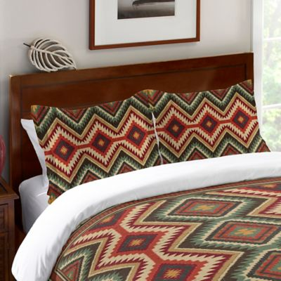 Laural Home® Country Mood Navajo Queen Comforter in Red