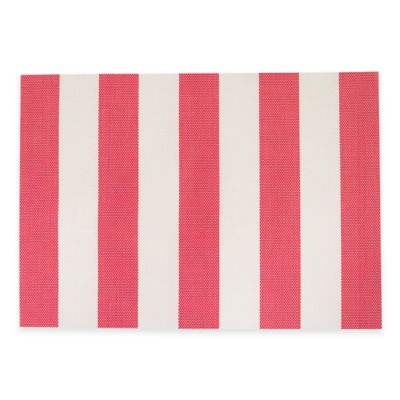 Cabana Stripe Woven Placemat in Red