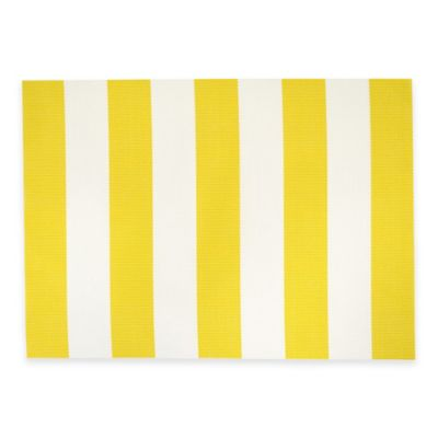Cabana Stripe Woven Placemat in Yellow