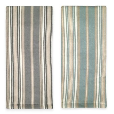 Lenox® French Perle Stripe Kitchen Towel in Blue