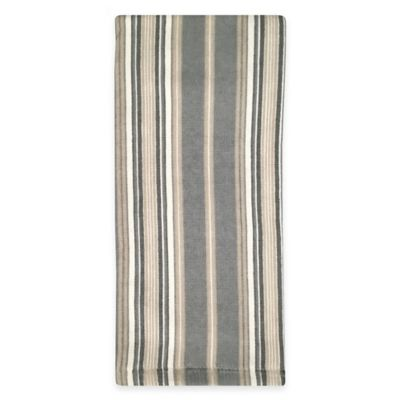 Lenox® French Perle Stripe Kitchen Towel in Grey