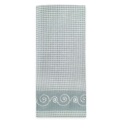 Lenox® French Perle Embroidered Kitchen Towel in Blue
