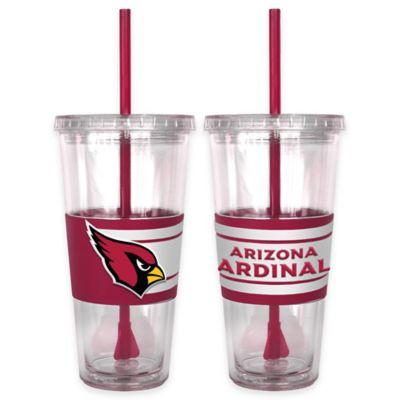 NFL Arizona Cardinals Double Wall Hype 22 oz. Tumbler with Lid & Straw