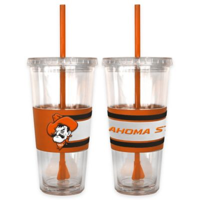 Oklahoma State University Double Wall Hype 22 oz. Tumbler with Lid & Straw