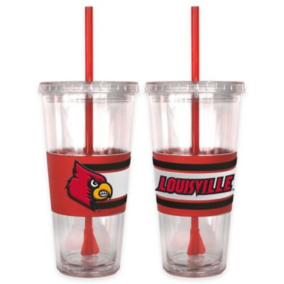 Louisville University Double Wall Hype 22 oz. Tumbler with Lid & Straw