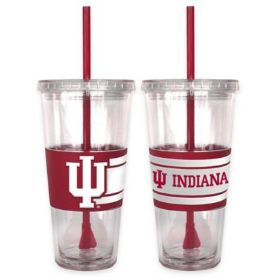 University of Indiana Double Wall Hype 22 oz. Tumbler with Lid & Straw