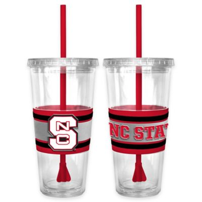 North Carolina State University Double Wall Hype 22 oz. Tumbler with Lid & Straw