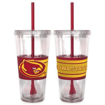 Iowa State University Double Wall Hype 22 oz. Tumbler with Lid & Straw