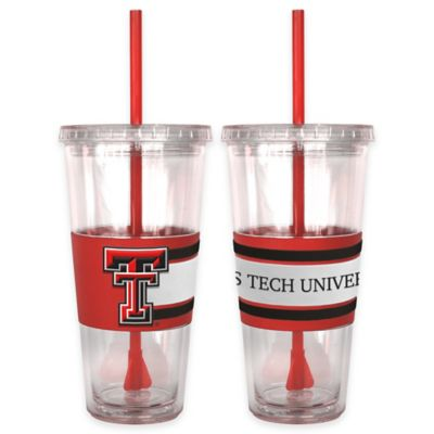 Texas Tech University Double Wall Hype 22 oz. Tumbler with Lid & Straw