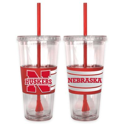 University of Nevada Double Wall Hype 22 oz. Tumbler with Lid & Straw