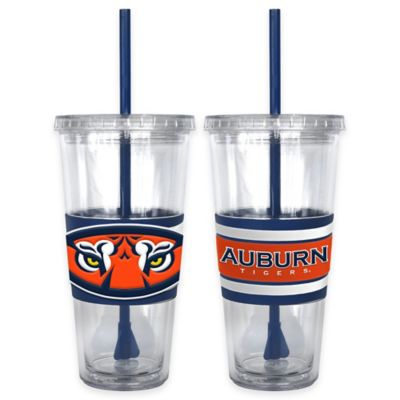 Auburn University Double Wall Hype 22 oz. Tumbler with Lid & Straw