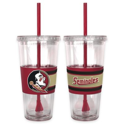 Florida State University Double Wall Hype 22 oz. Tumbler with Lid & Straw