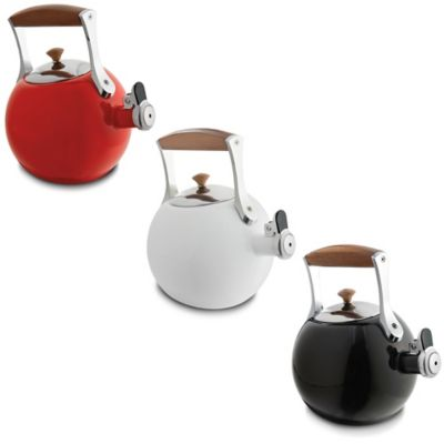 Nambe Meridian 2 qt. Enamel on Steel Tea Kettle in Black