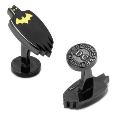 DC Comics™ Black-Plated Glow-in-the-Dark Batman Cape Cufflinks