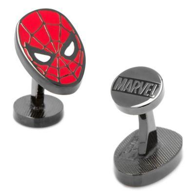 Marvel® Black-Plated Spiderman Face Cufflinks