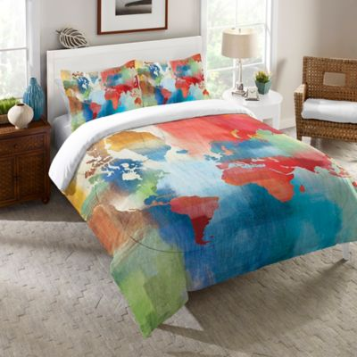 Laural Home® Seasons Change Abstract Twin Comforter in Red