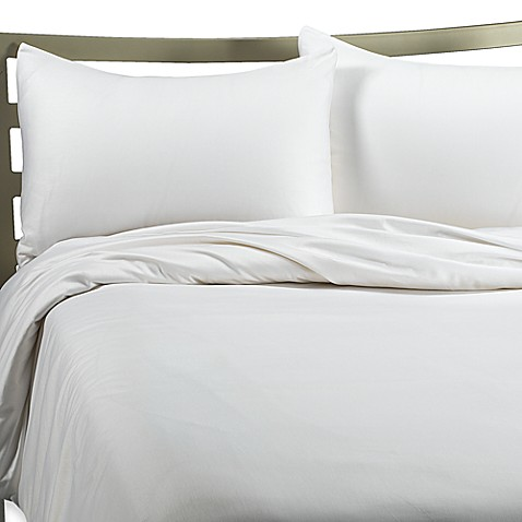 Wrinkle Free King Duvet Cover Set - White