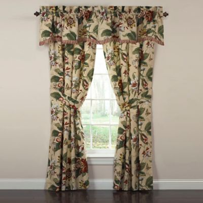 Waverly® Laurel Springs 84-Inch Rod Pocket Lined Window Curtain Panel Pair in Parchment