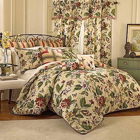 Waverly 174 laurel springs reversible comforter set in parchment