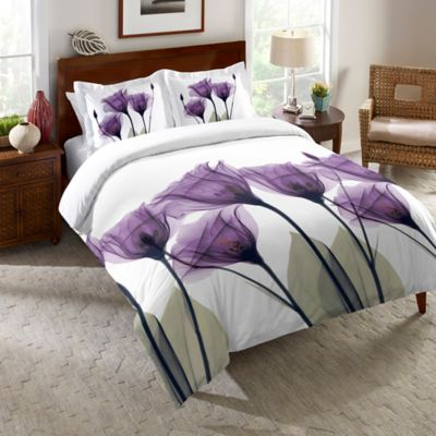 Laural Home® Lavender Hope King Comforter in Purple