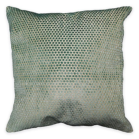 Small Dot Velvet Throw Pillow in Blue - Bed Bath & Beyond
