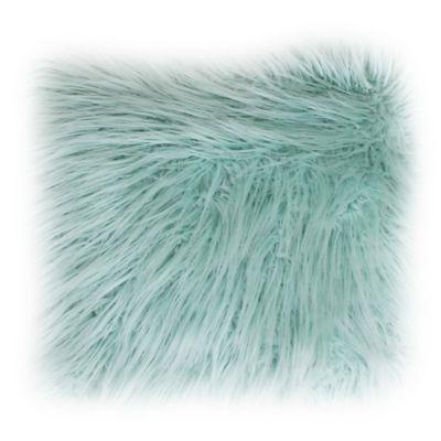 Keller Faux Mongolian 20-Inch x 20-Inch Throw Pillow