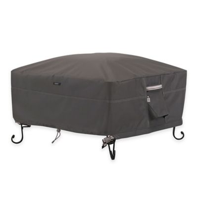 Classic Accessories® Ravenna 30-Inch Square Outdoor Firepit Cover in Taupe