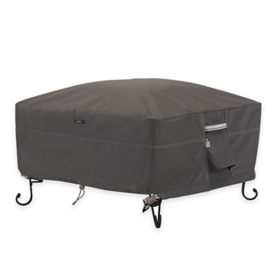 Classic Accessories® Ravenna 36-Inch Square Outdoor Firepit Cover in Taupe