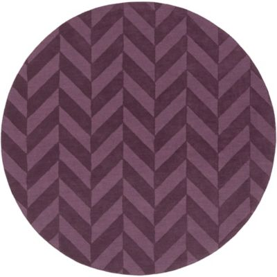 Artistic Weavers Central Park Carrie 6-Foot Round Area Rug in Purple