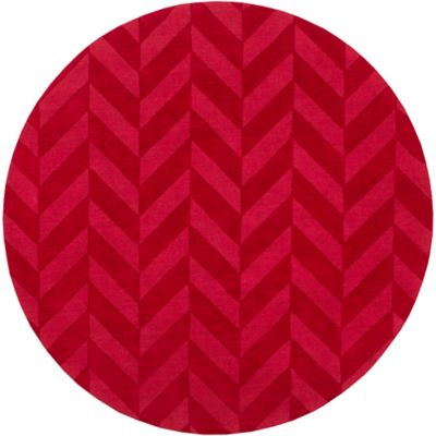 Artistic Weavers Central Park Carrie 9-Foot 9-Inch Round Area Rug in Red