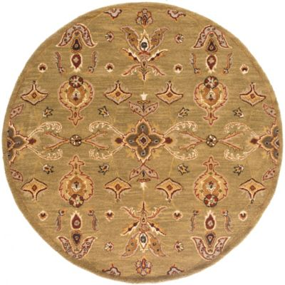 Artistic Weavers Middleton Grace 6-Foot Round Area Rug in Green