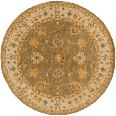 Artistic Weavers Middleton Willow 3-Foot 6-Inch Round Area Rug in Sage/Ivory