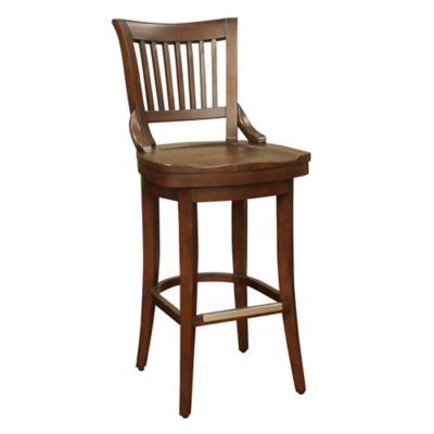 American Heritage Liberty Bar Height Swivel Stool in Brown