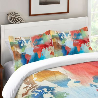 Laural Home® Seasons Change Abstract Standard Pillow Sham in Red