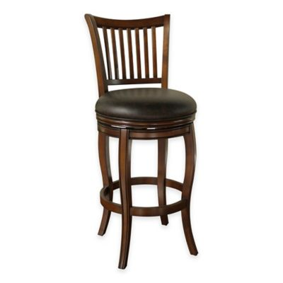 American Heritage Maxwell Bar Height Swivel Stool in Brown
