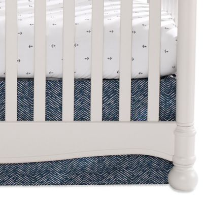 Liz and Roo Nautical Waves Tailored Crib Skirt
