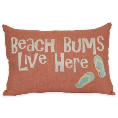 Beach Bums Tapestry Word Throw Pillow