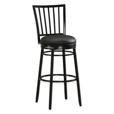 Easton Bar Height Swivel Bar Stool in Black