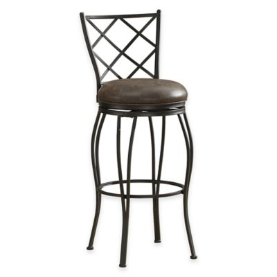 American Heritage Ava Swivel Counter Stool in Cocoa