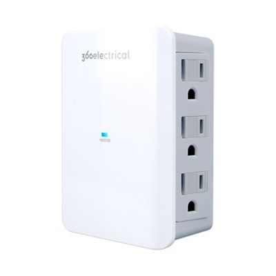 360 Electrical Side-Facing 6-Outlet Surge Protector