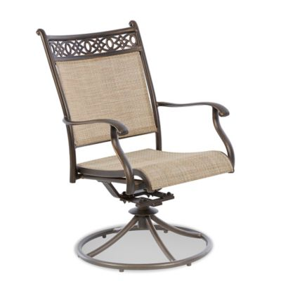 Klaussner Cayside Outdoor Swivel Rock Dining Chair (Set of 2)