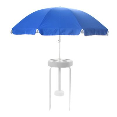 Pool Buoy 7-Foot Floating Umbrella and Buoy in Blue