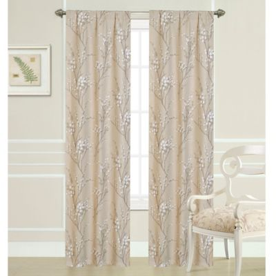 Laura Ashley® 84-Inch Pussy Willow Window Curtain Panel Pair