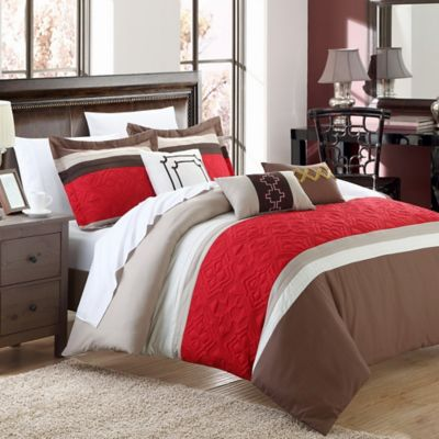 Chic Home Charlotte 10-Piece King Comforter Set in Brown
